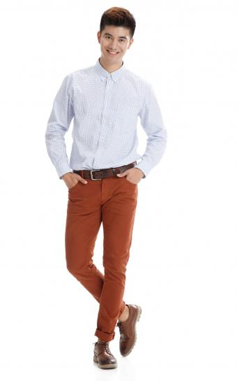 young man in casual clothing