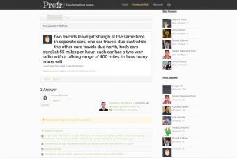 Screenshot of profr website
