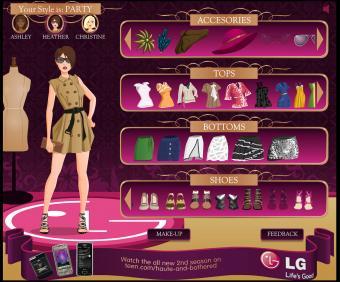 Screenshot of NYC Fashion Challenge