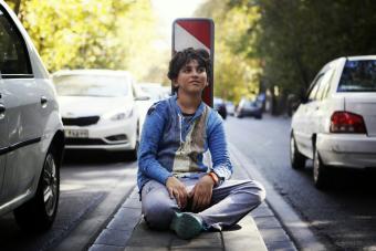 homeless teen boy