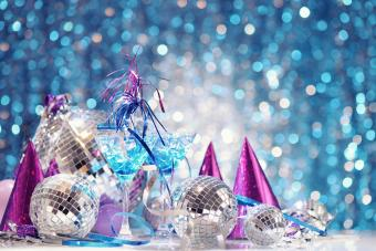 Party decorations with disco balls