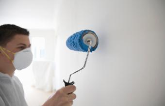 Teen working as a painter