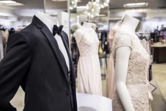 Tuxedos and evening gowns for sale