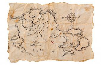 Pirate Map to Buried Treasure