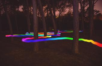 Colorful light trail