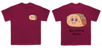 Taco pun senior t-shirt