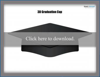 Printable 3D Graduation Cap Pattern