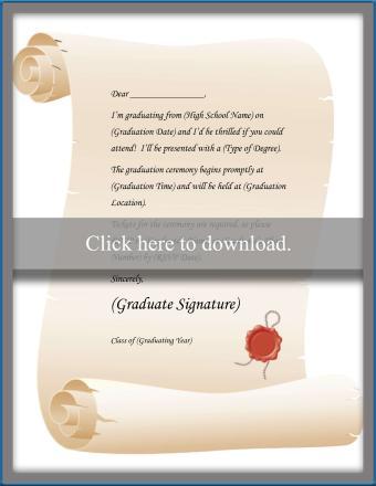Graduation Letter Invitation