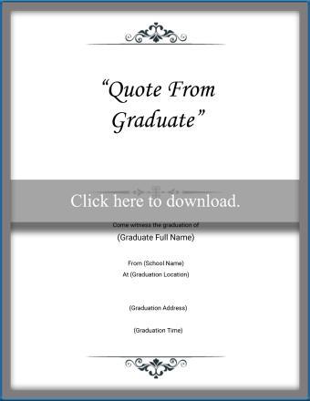 Graduation Quote Invitation