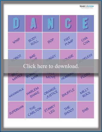 Dance Move Bingo