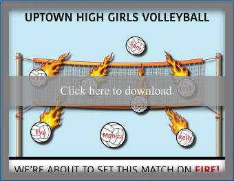Homecoming Volleyball Poster