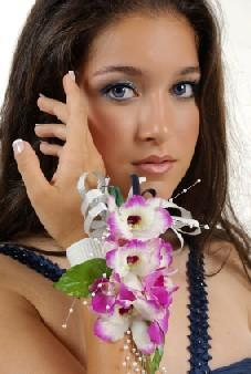 girl wearing a corsage