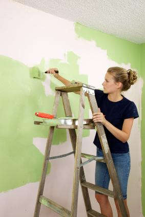 Teen working as a painter