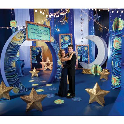 Starry Nights prom theme image provided by Shindigz
