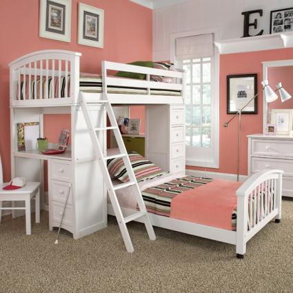 Schoolhouse Student Loft Bed from Hayneedle.com