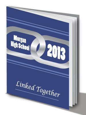 Blue Yearbook Cover