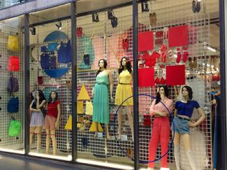 American Apparel window display