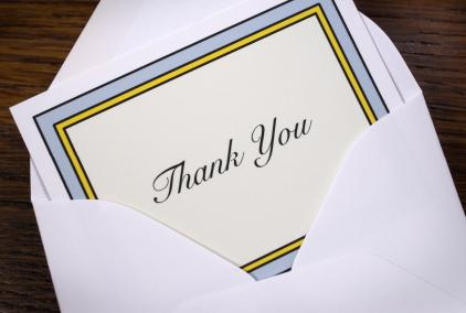Graduation thank you note