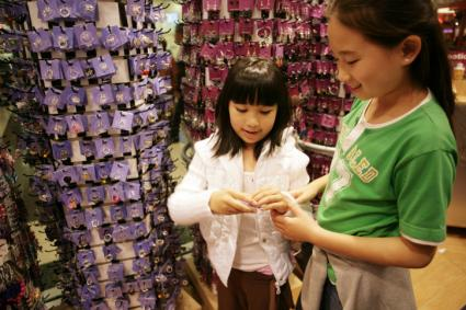 12-year-old girls shopping