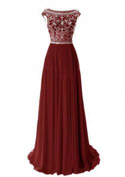 Tidetell Elegant Cap Sleeved Gown