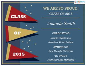 Printable Graduation Announcement Templates 2 v3