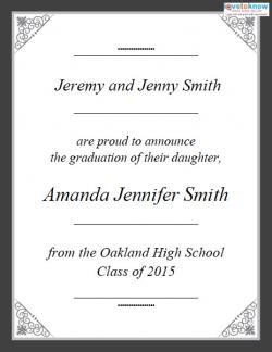 Free Printable Graduation Announcements LoveToKnow - Free graduation announcements templates