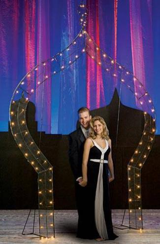 Arabian Nights-theme prom photo arch