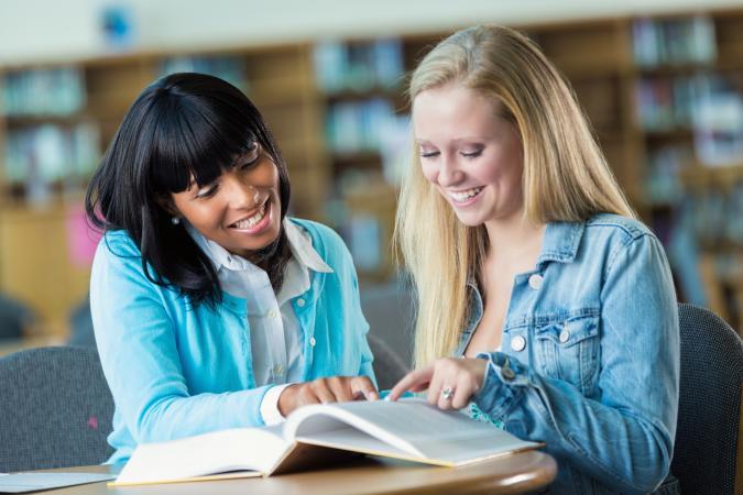 Teacher tutors student