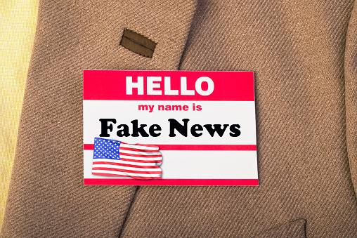 Fake News name tag