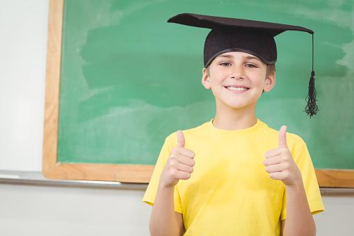 Boy with mortar board
