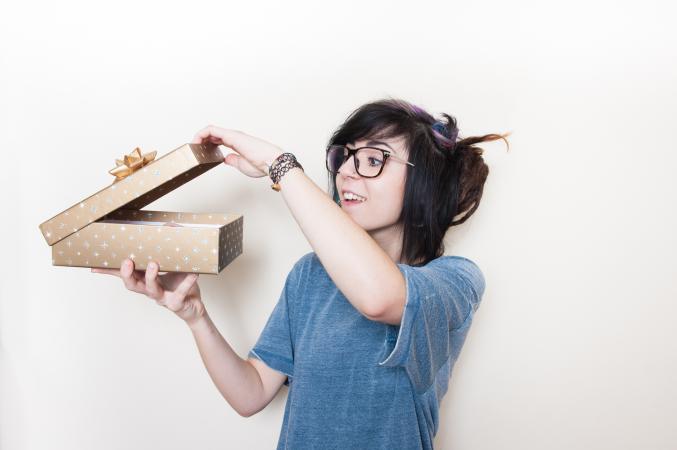 teen opening gift