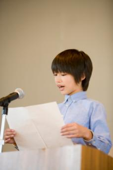 Student giving a speech