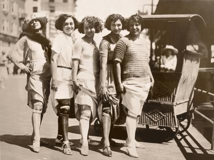 Young Women Showing Their Garter Belts/ CIRCA 1920'S