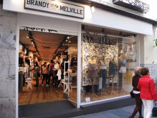 Brandy Melville store in Madrid Spain