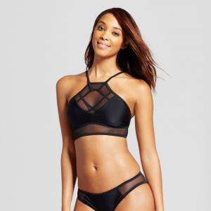 Xhilaration™ Mesh High Neck Bikini Top