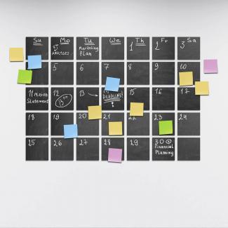 Chalkboard label calendar