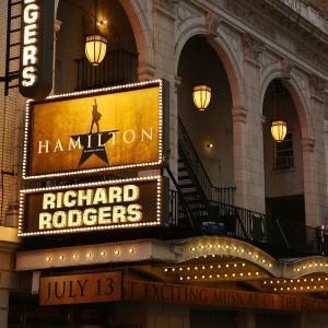 'Hamilton' Theatre Marquee Unveiling