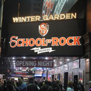 'School Of Rock' Theatre Marquee Unveiling