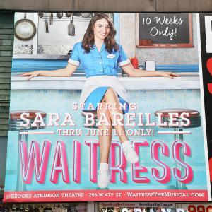 Broadway's 'Waitress' Theatre Billboard Unveiling
