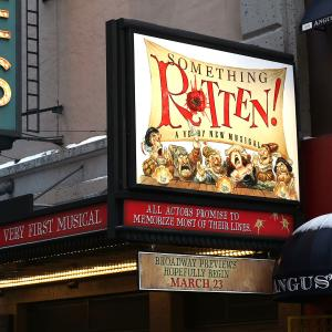 'Something Rotten!' Theater Marquee Unveiling