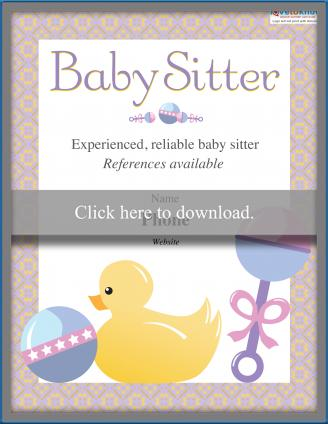 free babysitting flyer templates and ideas lovetoknow