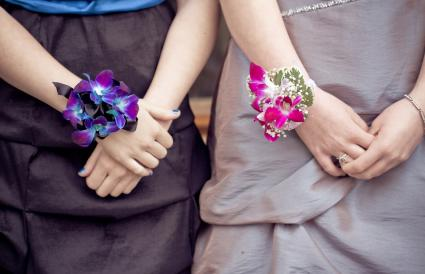 Prom corsage bracelets single-color