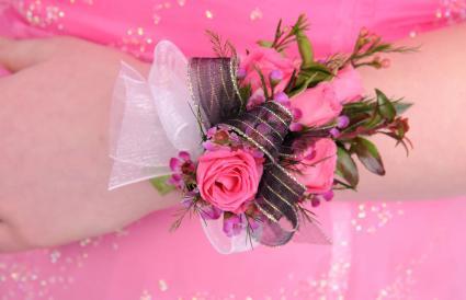pink corsage