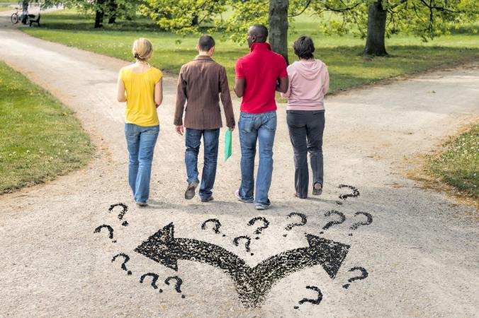 Teens questioning which way to go