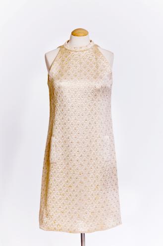 Vintage 60s brocade dress