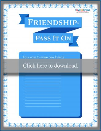 Friendship Bully Prevention Poster Template