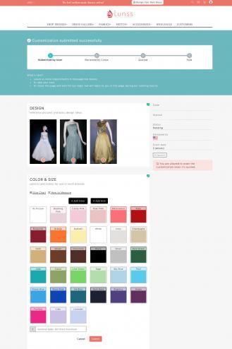 Screenshot of Lunss website
