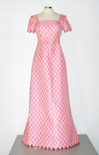 1960s pink evening gown by Hubert de Givenchy