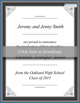 photo relating to Printable Graduation Announcements named No cost Printable Commencement Bulletins LoveToKnow