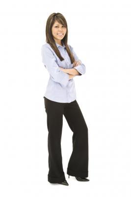 Woman in slacks